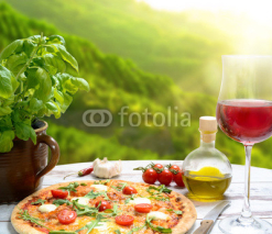 Fototapety Pizza in der Toscana