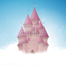 Obrazy i plakaty Vector Illustration of a Cartoon Castle