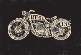Naklejki Text Filled Vintage Motorcycle