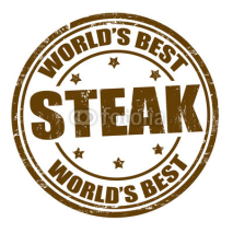 Naklejki Steak stamp