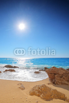 Obrazy i plakaty Sun and sea on a sandy beach of Porto Katsiki on Lefkada,