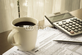 Fototapety Tax forms of expenses for business use of your home