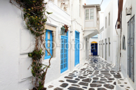 Obrazy i plakaty Traditional streets of Mykonos island in Greece