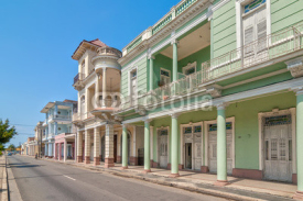 Fototapety Traditional colonial style buildings located on main street