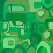 Obrazy i plakaty Green vector wallpaper in retro style