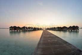 Fototapety tropical water home villas