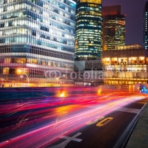 Fototapety night scene of modern city