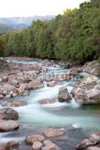 Fototapety Nice river with clear water flowing