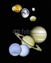 Fototapety Planets in outer space.