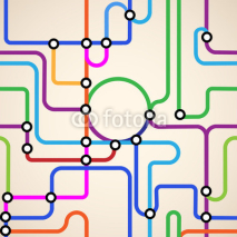 Fototapety Abstract subway map seamless