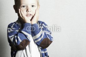 Naklejki beautiful child.little boy.stylish kid.fashion children