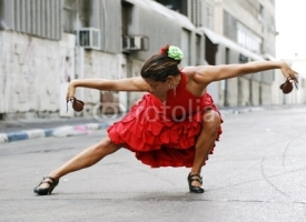 Fototapety Flamenco Dancer with castanets