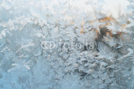 Obrazy i plakaty Frozen window, Christmas background