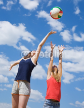 Fototapety girls playing volleyball