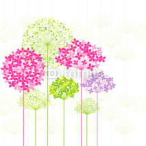 Fototapety Springtime Colorful Flower on Dandelion Background