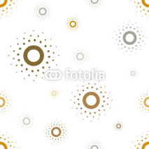 Obrazy i plakaty Vector seamless pattern. Sun stylish texture. Repeating sun.