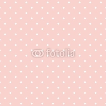Fototapety Polka dots on baby pink background seamless vector pattern