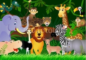 Fototapety Wild animal cartoon