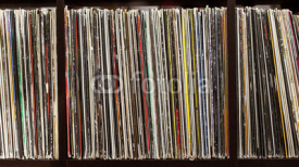 Fototapety Stack of old vinyl records