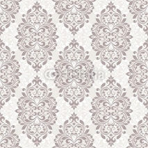 Naklejki Damask seamless pattern for design.