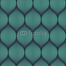 Fototapety Seamless neon blue optical illusion woven pattern vector