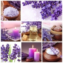 Fototapety Lavender spa collage