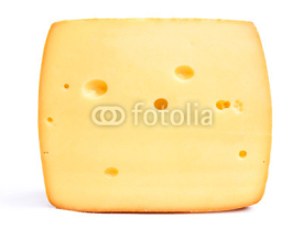 Fototapety cheese isolated on a white background