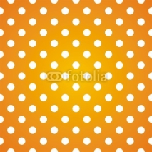 Naklejki Polka dots on gradient sunny background seamless vector pattern