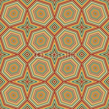 Naklejki Seamless pattern cute colored