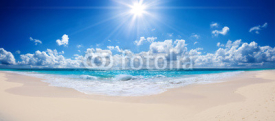 Fototapety tropical beach and sea - landscape
