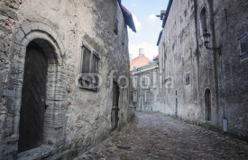 Fototapety Old Street of Tallinn Estonia