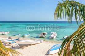 Fototapety Beach of island Grand Roque from above, Venezuela