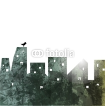 Naklejki The city wall. abstract illustration.  Vector Background