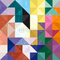 Obrazy i plakaty abstract geometric pattern background, with triangles/squares an