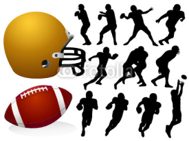 Fototapety Vector American Football Silhouettes