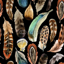 Fototapety watercolor feather background