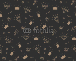 Obrazy i plakaty vector pattern for fabric