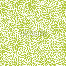 Naklejki seamless abstract green leaf pattern, foliage vector background