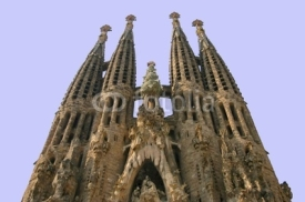 Naklejki sagrada familia church in barcelona, spain