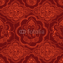 Naklejki Indian seamless pattern with ornament