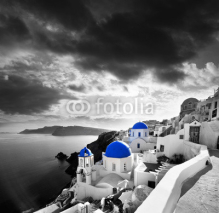 Obrazy i plakaty Santorini with Traditional Church in Oia, Greece
