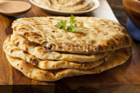 Fototapety Homemade Indian Naan Flatbread