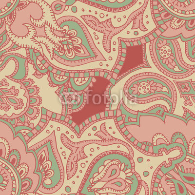 Paisley. Seamless pattern. Oriental traditional pattern.A template for a print fabric, wrapping paper, textiles.Limited Palette
