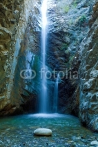 Naklejki Chantara Waterfalls in Trodos mountains, Cyprus
