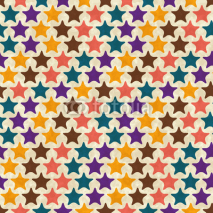 Fototapety Seamless retro geometric pattern. EPS10 vector texture.