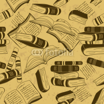 Obrazy i plakaty Seamless pattern of books