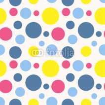Obrazy i plakaty Seamless polka dot pattern in retro style.