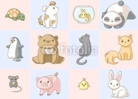 Naklejki Animals kawaii set