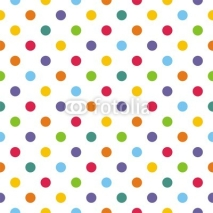 Naklejki Seamless vector pattern or background with colorful polka dots