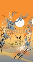 Fototapety Four seasons: autumn, in Chinese traditional painting style